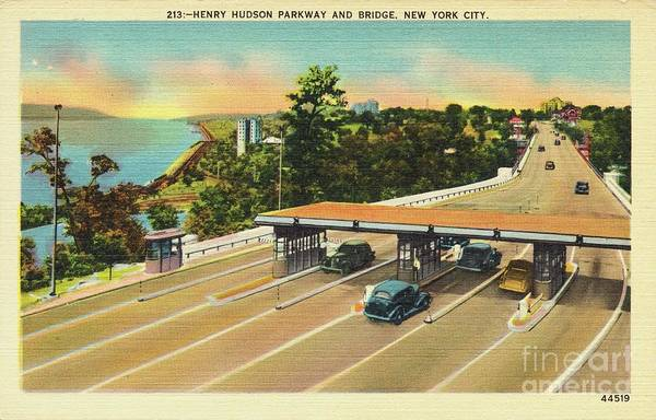 Photograph - Henry Hudson Bridge Postcard  by Cole Thompson