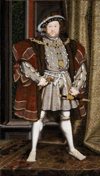 Wall Art - Painting - Henry Viii  by Hans Holbein The Younger