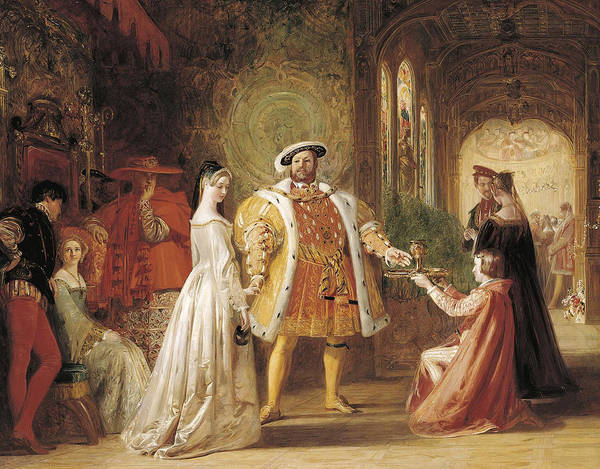 Wall Art - Painting - Henry Viii's First Interview With Anne Boleyn by Daniel Maclise