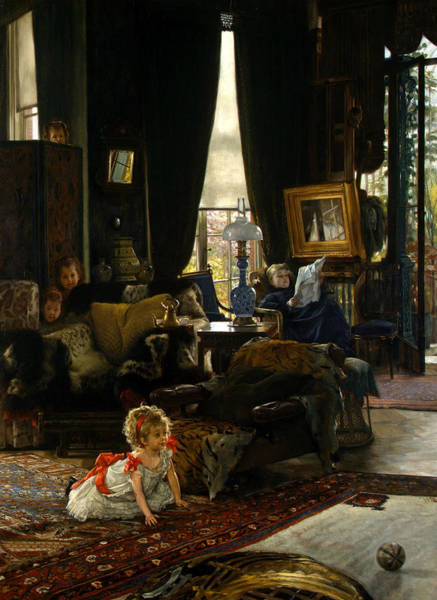 Painting - Hide And Seek by James Tissot