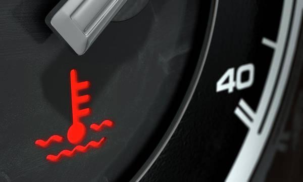 Dashboard Digital Art - High Temperature Dashboard Light by Allan Swart