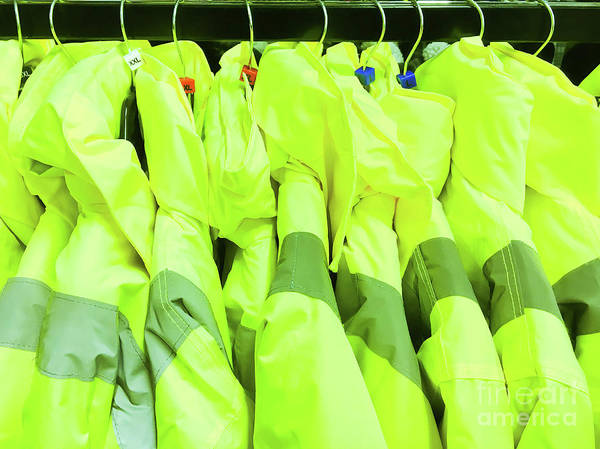 Protective Clothing Photograph - High Visibility Jackets by Tom Gowanlock