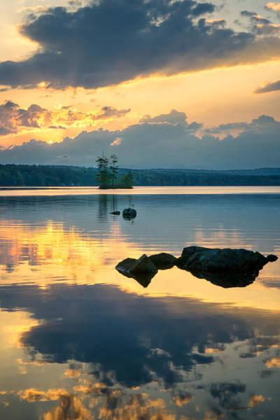 Photograph - Highland Lake Sunset by Darylann Leonard Photography