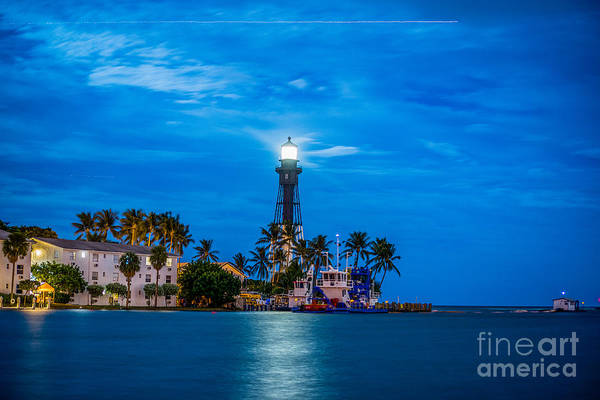 Inlet Photograph - Hillsboro Inlet Lighthouse by Art K
