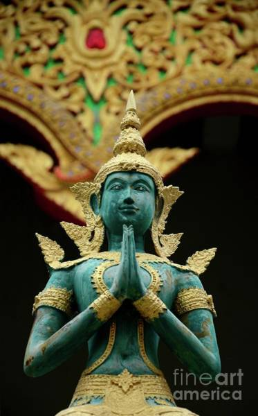 Photograph - Hindu Deity Greets At Buddhist Temple Chiang Mai Thailand by Imran Ahmed