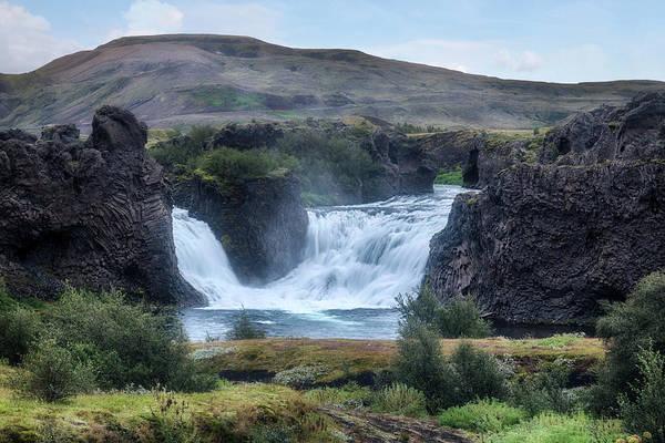 Basalt Columns Photograph - Hjalparfoss - Iceland by Joana Kruse
