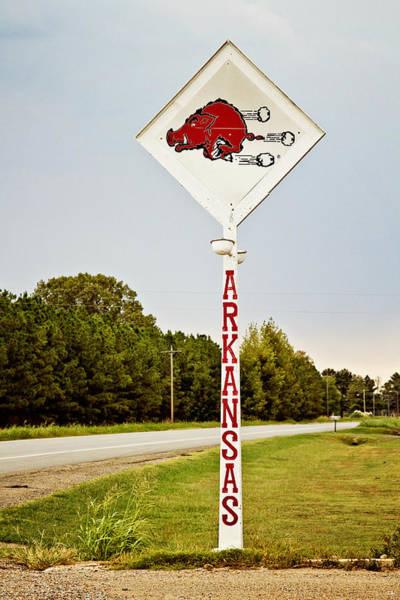 Fayetteville Photograph - Hog Sign by Scott Pellegrin
