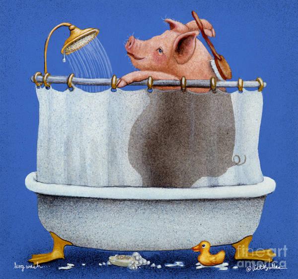 Wall Art - Painting - Hog Wash... by Will Bullas