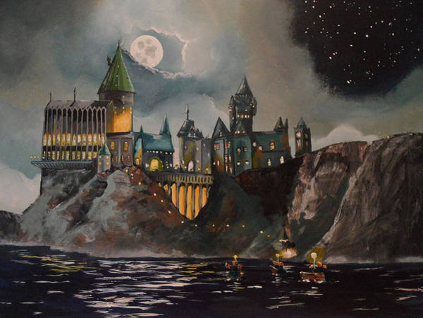 Movie Painting - Hogwart's Castle by Tim Loughner