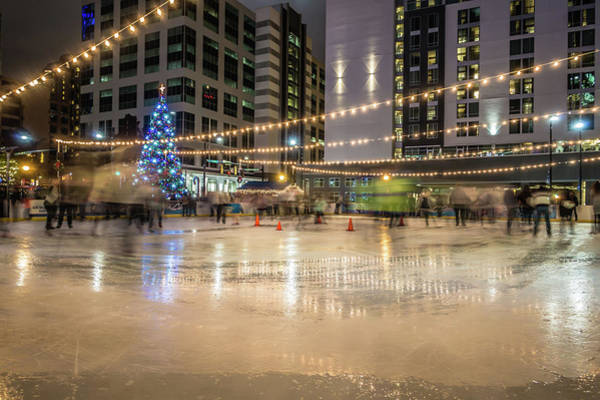 Christmass Photograph - Holiday Scenes In Uptown Charlotte North Carolina by Alex Grichenko