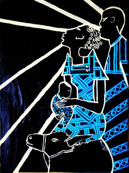 Mama Africa Wall Art - Painting - Holy Family - Flight Into Egypt by Gloria Ssali