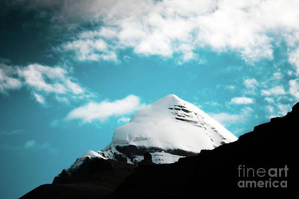 Wall Art - Photograph - Holy Kailas Himalayas Mountain Tibet Yantra.lv by Raimond Klavins