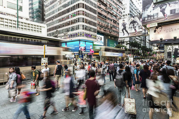 Photograph - Hong Kong In Motion by Didier Marti