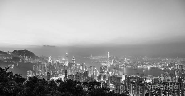 Photograph - Hong Kong Skyline Panorama by Didier Marti