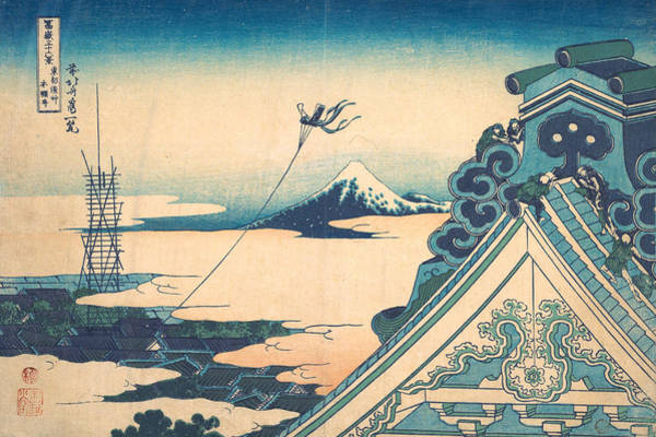 Thirty-six Views Of Mount Fuji Wall Art - Painting - Honganji At Asakusa In Edo by Katsushika Hokusai