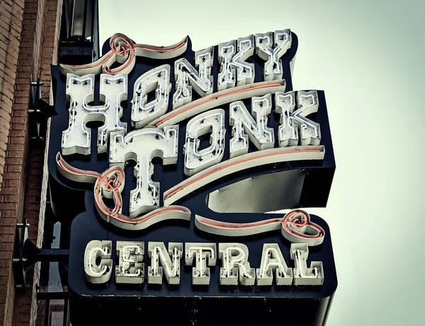 Honky Tonk Photograph - Honky Tonk Central - Nashville by Mountain Dreams