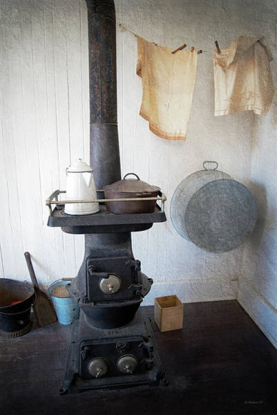 Screw Pile Wall Art - Photograph - Hooper Strait Lighthouse Stove by Brian Wallace
