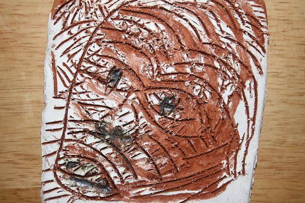 Ceramic Art - Horror - Tile by Gloria Ssali