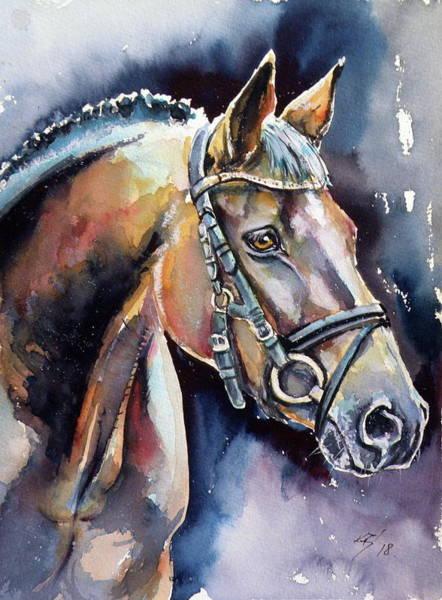 Wild Life Painting - Horse by Kovacs Anna Brigitta
