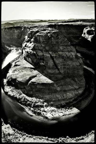 Photograph - Horseshoe Bend Bw by Roger Passman
