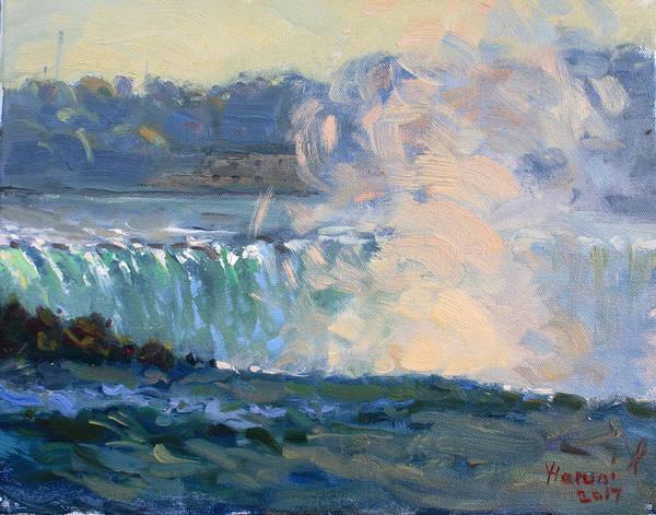 Horseshoes Painting - Horseshoe Falls by Ylli Haruni