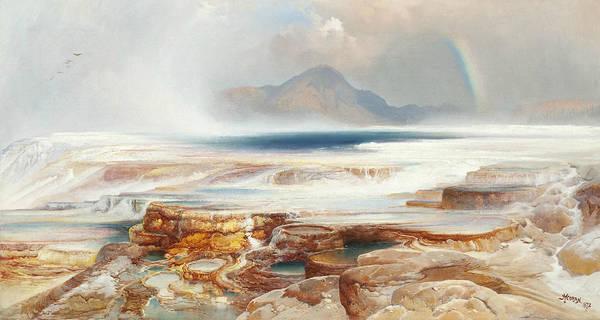 Moran Painting - Hot Springs Of The Yellowstone by Thomas Moran