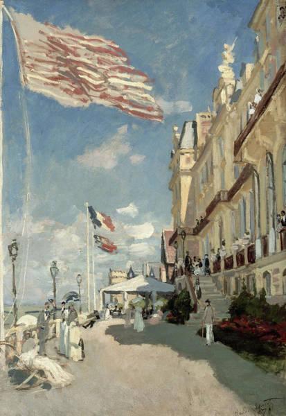 Parisian Cafe Painting - Hotel Des Roches Noires by Claude Monet