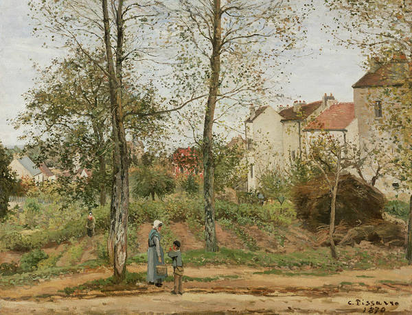 Camille Wall Art - Painting - Houses At Bougival  by Camille Pissarro