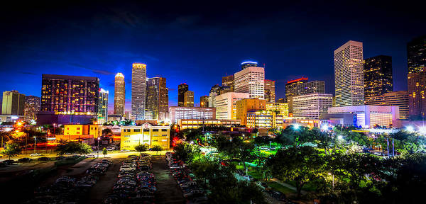 Photograph - Houston City Lights by David Morefield