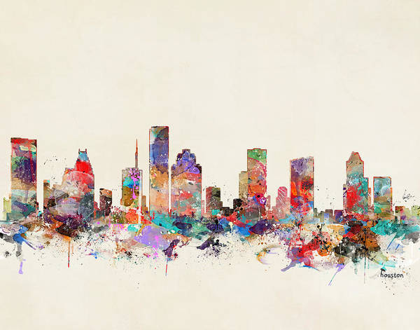 Watercolour Landscape Painting - Houston Texas by Bri Buckley