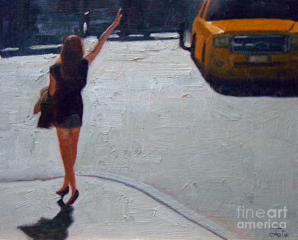 Taxi Painting - How To Hail A Cab by Tate Hamilton