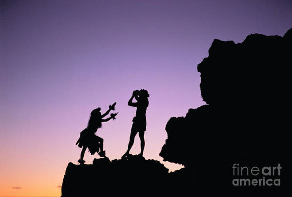 Hula Wall Art - Photograph - Hula Silhouette by William Waterfall - Printscapes