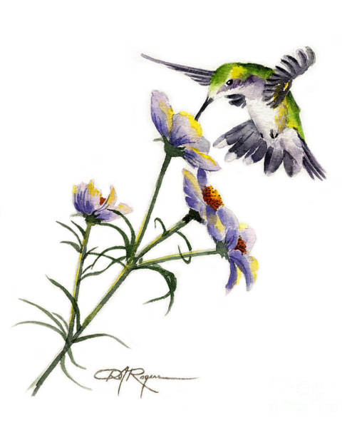 Humming Bird Wall Art - Painting - Hummingbird by David Rogers