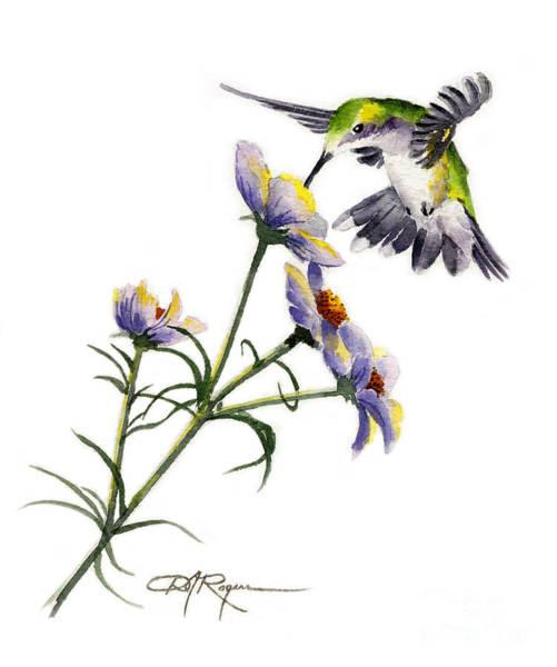 Avian Wall Art - Painting - Hummingbird by David Rogers