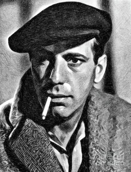Bogart Digital Art - Humphrey Bogart, Vintage Actor By Js by John Springfield