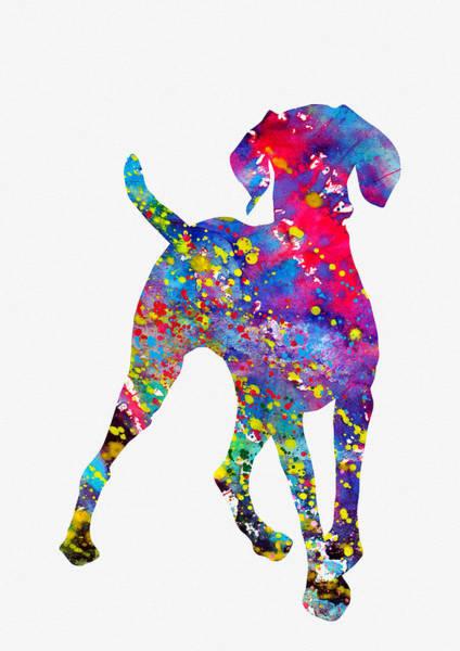 Wall Art - Digital Art - Hungarian Vizsla-colorful by Erzebet S
