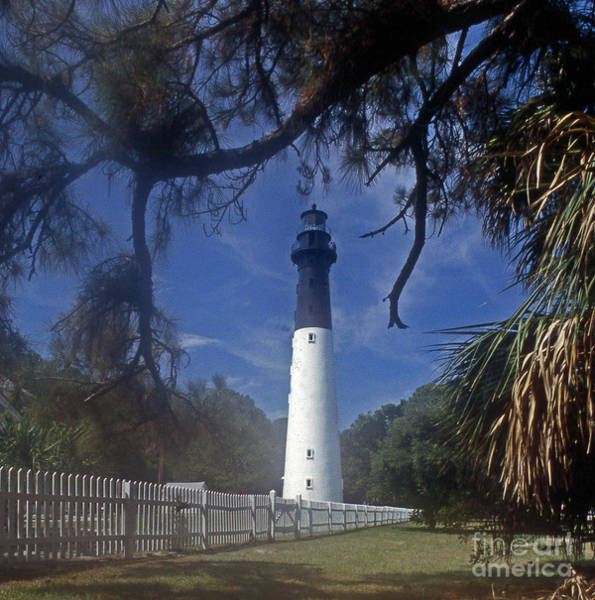 Wall Art - Photograph - Lh 8-3 Hunting Island Lighthouse Sc by Skip Willits