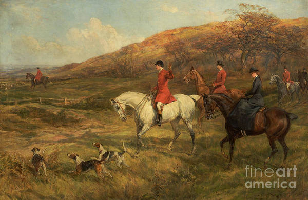 Huntsmen Wall Art - Painting - Hunting Scene by Heywood Hardy