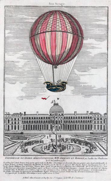 Photograph - Hydrogen Balloon, 1783 by Granger