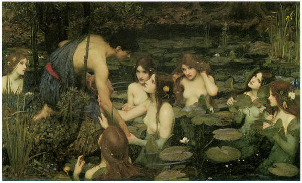 Mythology Painting - Hylas And The Nymphs by John William Waterhouse