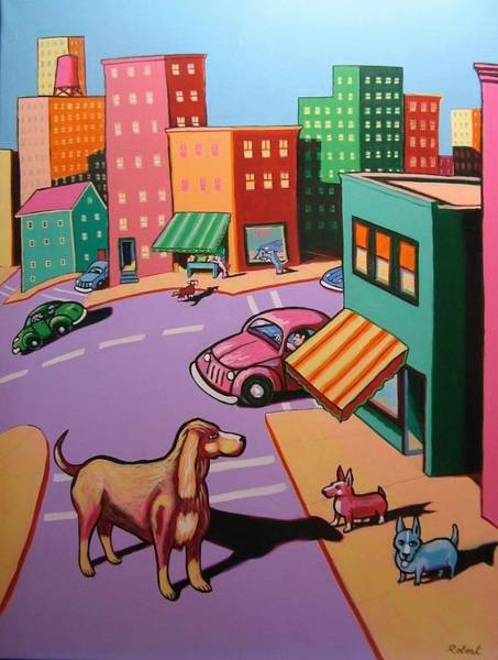 Wall Art - Painting - I Like This Town by Robert Tarr