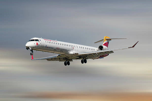 Wall Art - Mixed Media - Iberia Regional Bombardier Crj-1000 by Smart Aviation