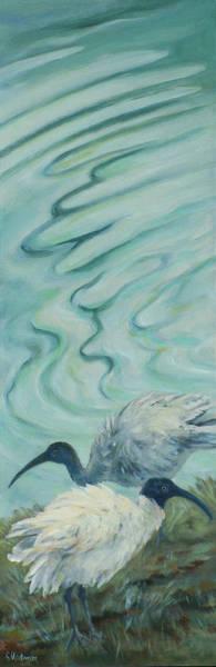 Wall Art - Painting - Ibis Duo by Ekaterina Mortensen