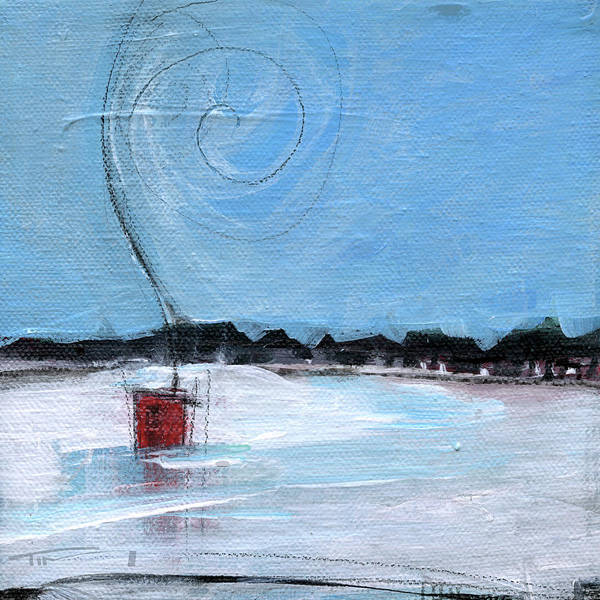 Painting - Ice Fishing by Tim Nyberg