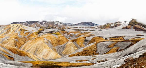 Iceland Digital Art - Iceland Panorama In Laugavegur by Martin Krzywinski