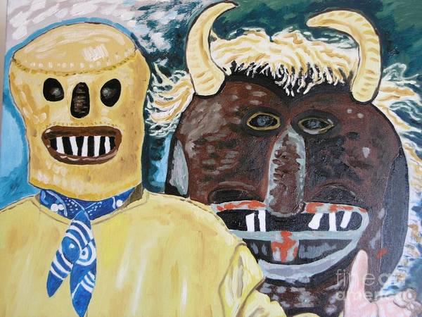 Wall Art - Painting - il ballo dei diavoli a Prizzi  PALERMO by Leonardo Albanese