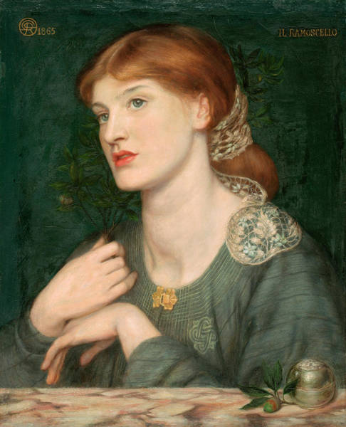 Wavy Wall Art - Painting - Il Ramoscello by Dante Gabriel Rossetti