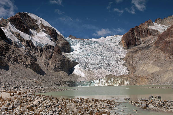 Photograph - Illampu Glacier Lake Or Laguna Glacial by Aivar Mikko
