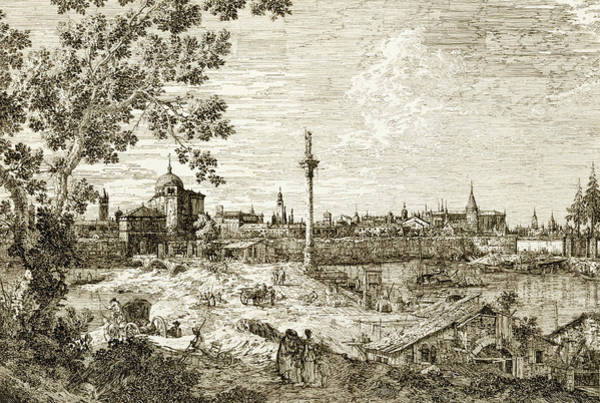 Relief - Imaginary View Of Padua by Canaletto
