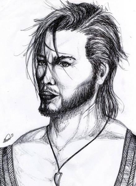 Imagination Drawing - Imaginative Portrait Drawing  by Alban Dizdari